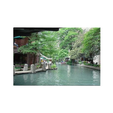 San Antonio Riverwalk Rectangle Magnet