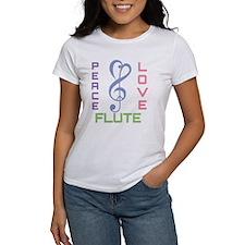 Peace Love Flute Music Tee