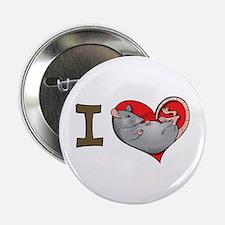 I heart rats (grey) Button