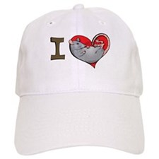 I heart rats (grey) Baseball Cap