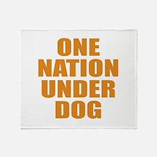 Under Dog Throw Blanket