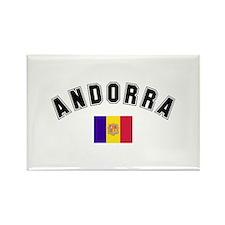 Andorra Flag Rectangle Magnet (100 pack)