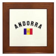 Andorra Flag Framed Tile