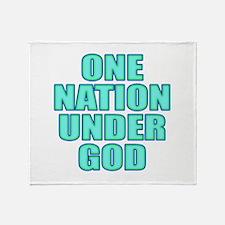 Under God Throw Blanket