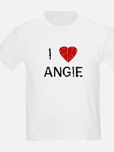 I Heart ANGIE (Vintage) Kids T-Shirt
