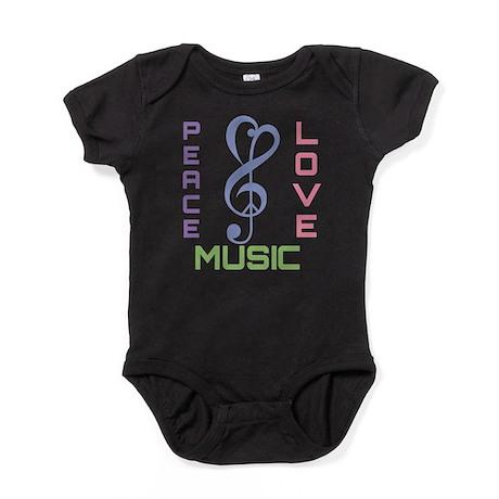 Peace Love Music Baby Bodysuit