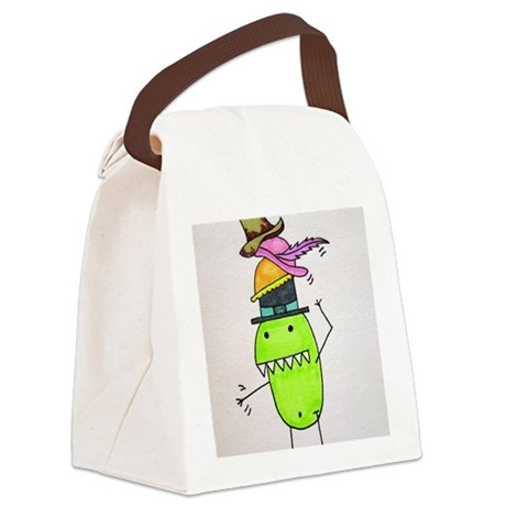 Pea Monster's Hats Canvas Lunch Bag
