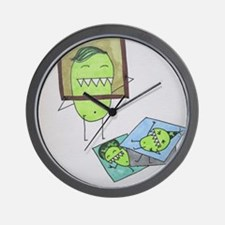 Pea Monster Picture Day Wall Clock