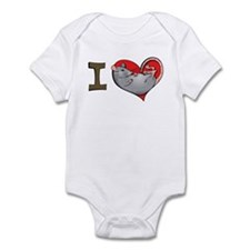 I heart rats (grey) Infant Bodysuit