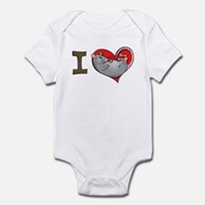 I heart rats (grey) Infant Bodysuit