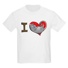 I heart rats (grey) Kids T-Shirt