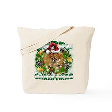 MerryChristmas Pomeranian Tote Bag