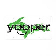Yooper_GREEN_CAFEPRESS_NOCI Aluminum License Plate