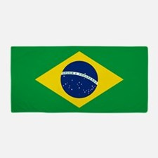 Flag of Brazil Beach Towel