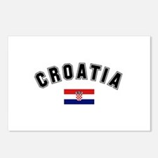 Croatia Flag Postcards (Package of 8)