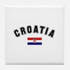 Croatia Flag Tile Coaster