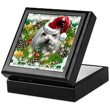 MerryChristmas Maltese Keepsake Box