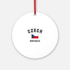 Czech Republic Flag Ornament (Round)