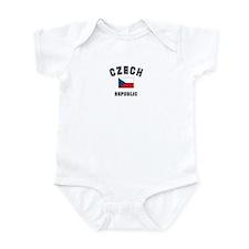 Czech Republic Flag Infant Bodysuit