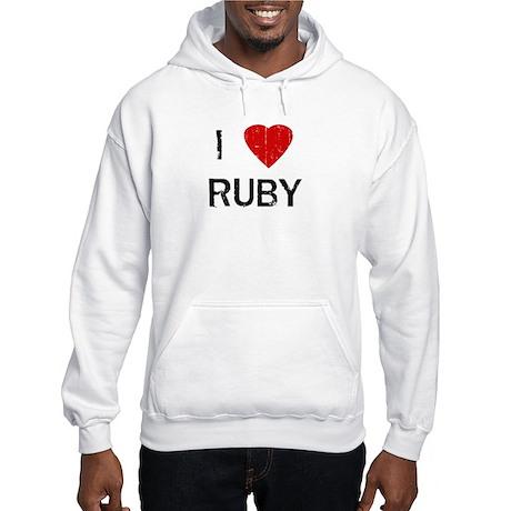 I Heart RUBY (Vintage) Hooded Sweatshirt