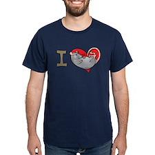 I heart rats (grey) T-Shirt