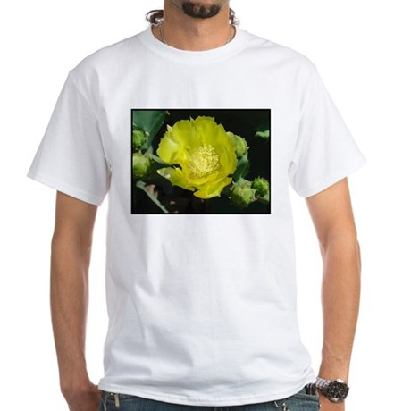 Prickly Pear Flower White T-Shirt