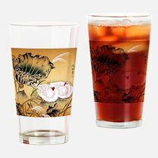 Oriental Swan Motif Drinking Glass