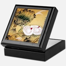 Oriental Swan Motif Keepsake Box