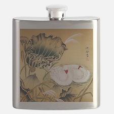 Oriental Swan Motif Flask