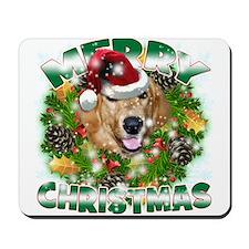 MerryChristmas Golden Retriever2 Mousepad