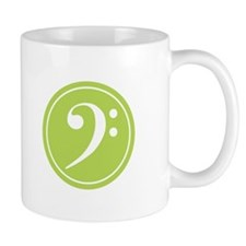 Base Clef Green Mug