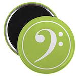 Base Clef Green Magnet