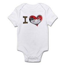 I heart rats (hooded) Infant Bodysuit
