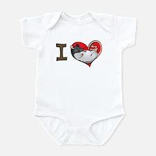 I heart rats (hooded) Infant Bodysuit