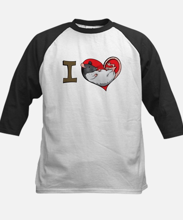 I heart rats (hooded) Tee