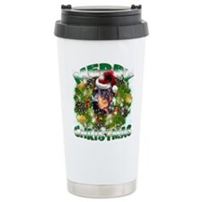 MerryChristmas Doberman Travel Mug