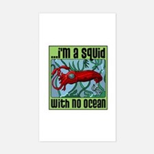 Squid with no Ocean Rectangle Decal