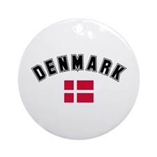 Denmark Flag Ornament (Round)