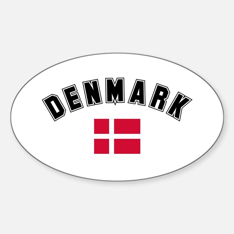 Denmark Flag Oval Decal