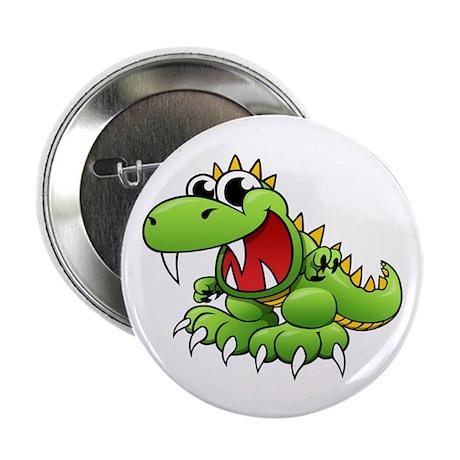 """Cartoon Tyrannosaurus 2.25"""" Button"""