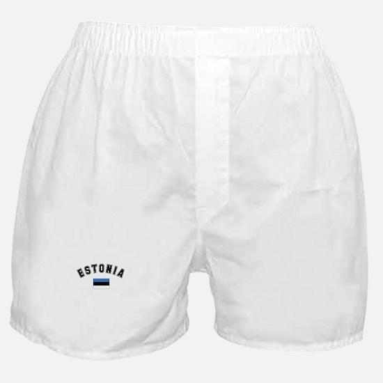 Estonia Flag Boxer Shorts