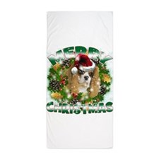 MerryChristmas Cavalier Beach Towel