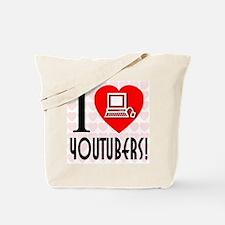 I Love YouTubers! Tote Bag