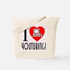 I Love YouTubing! Tote Bag