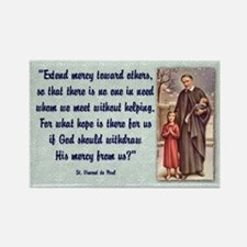 St. Vincent de Paul Rectangle Magnet