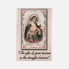St Rose of Lima Rectangle Magnet