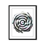 Dizzy Flower Framed Panel Print
