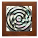 Dizzy Flower Framed Tile