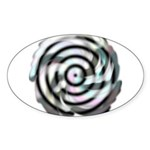 Dizzy Flower Oval Sticker