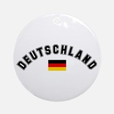 Deutschland Flag Ornament (Round)